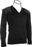 Cobmex: V-Neck Rib Commando Sweater, 100% Acrylic with VELCRO brand Epaulettes