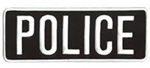 POLICE - White on Black - Back Patch - 11 x 4 inch