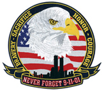 "Never Forget 9-11-01 - 12"" Wide"