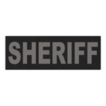 8 x 3 Sheriff Velcro Patch