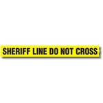 Sheriff Line Do Not Cross