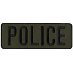 POLICE Back Patch 11x4 Black/OD