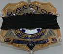 Mourning Bands for Metal Badge